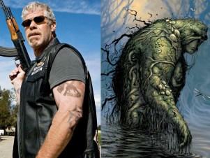 Será que o Ron Perlman seria o Monstro do Pântano?