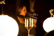Actress Elizabeth Bochmann Prepares